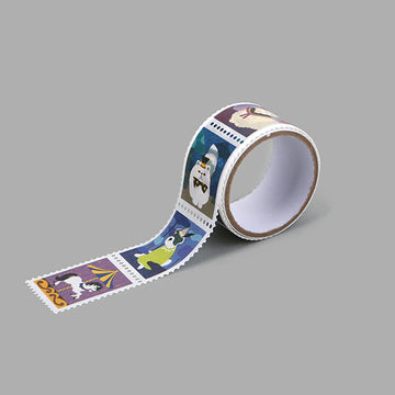 wonderland cute stamp masking tape
