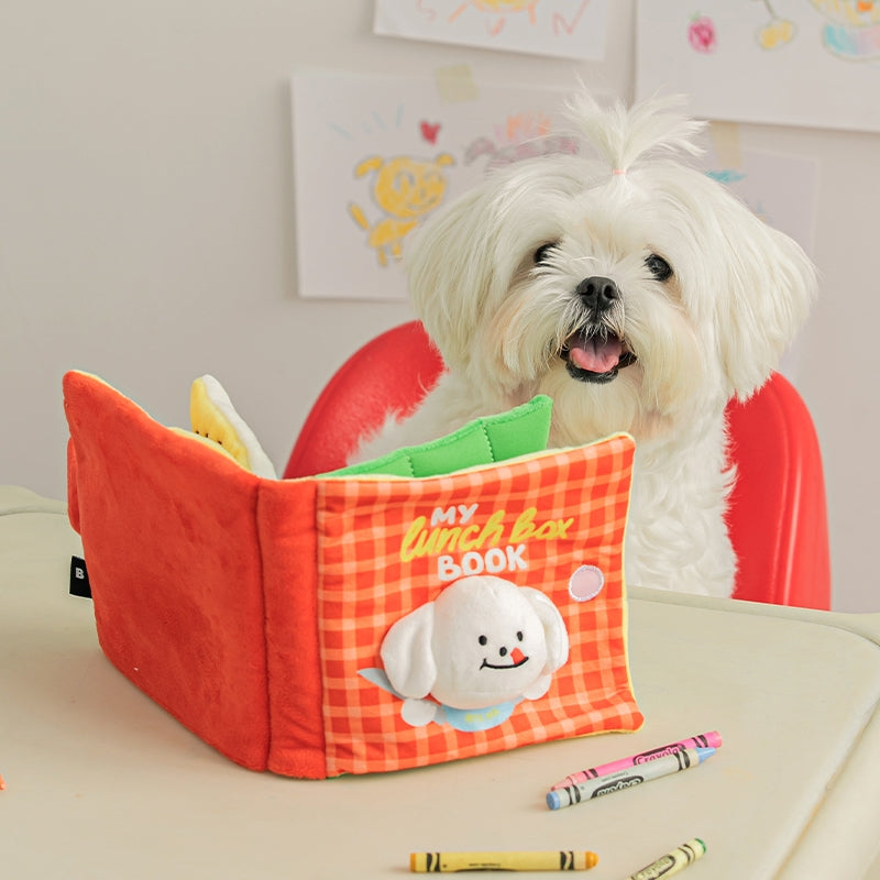 Biteme lunch box playbook nosework dog toy