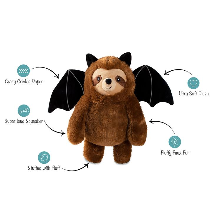 Bat sloth halloween dog toy