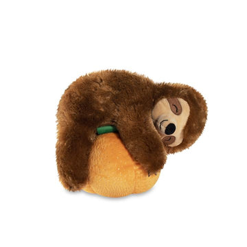 pumpkin sloth dog toy