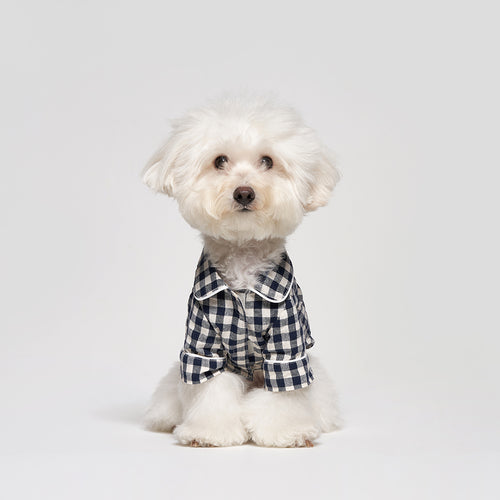 Dog Check Cotton Pajamas