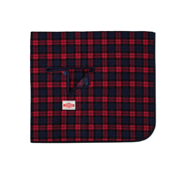 Red Plaid Camp Blanket for dogs