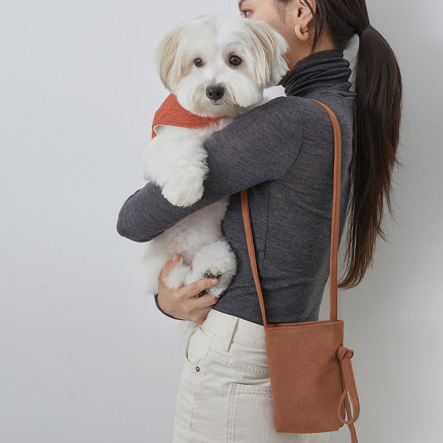 small dog walker bag with poop bag dispenser