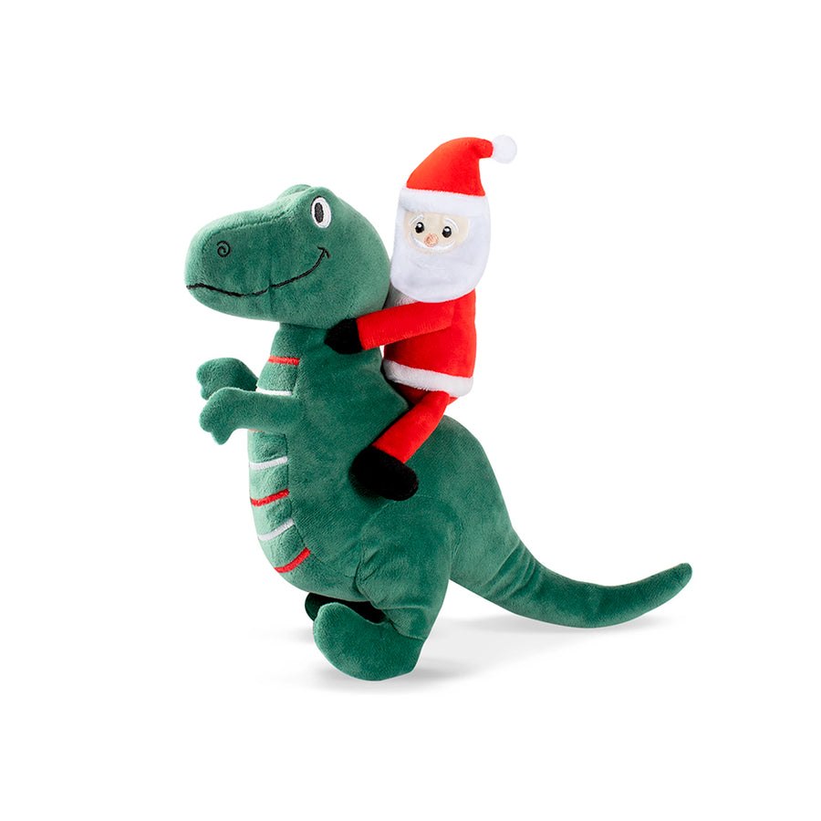 Santa Saurus Rex dog toy