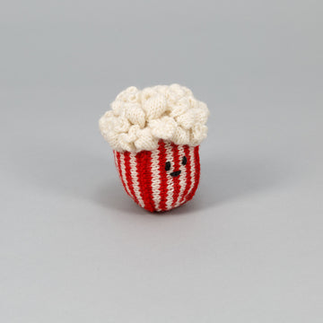 Hand Knit Popcorn dog toy