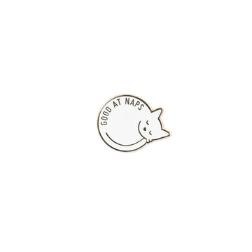 Enamel cat sleeping pin