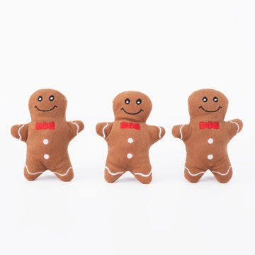 Squeaky Gingerbread Dog Toy