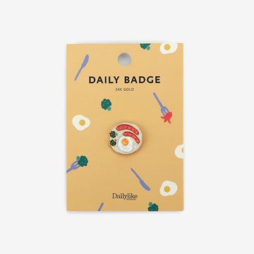 brunch plate 24k plated enamel pin