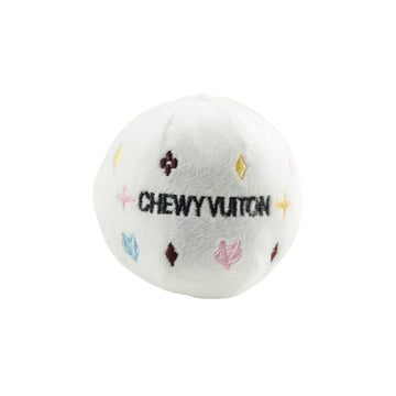 White Chewy Vuiton Ball by Haute Diggity Dog