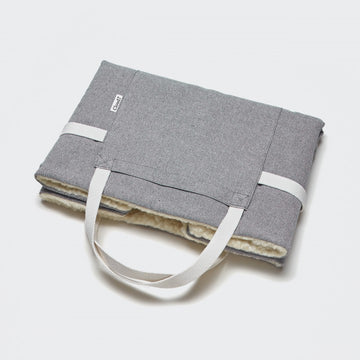 Travel Bed Tweed Grey