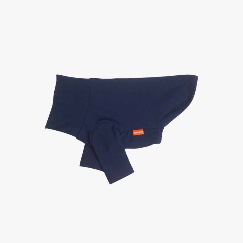 Basic turtleneck Colle Polo for dogs in navy indigo