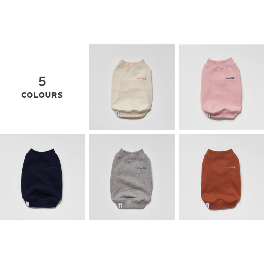 Crew Neck Dog Sweatshirt in 5 different colours