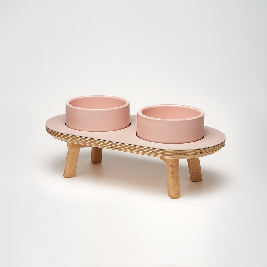 wood dining set for the dog & cat