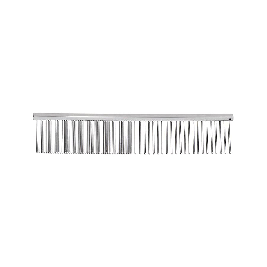 Master Grooming Tools 4.5 Inch Greyhound Pet Grooming Comb, Fine and Coarse