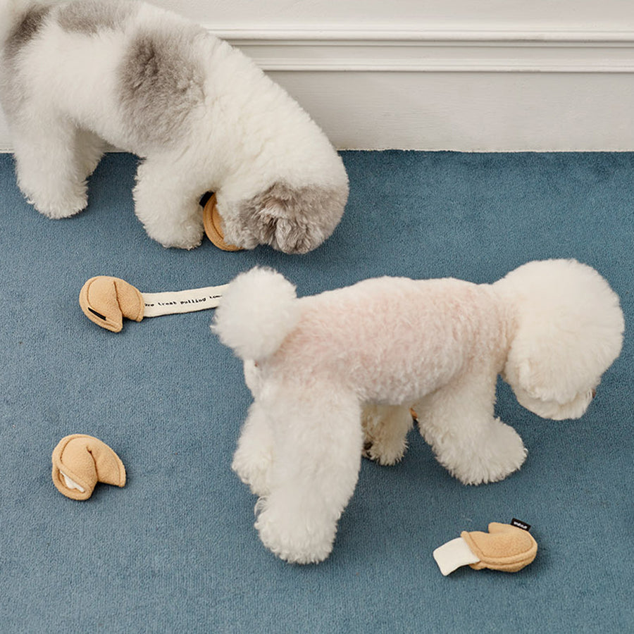 fortune cookie dog toy
