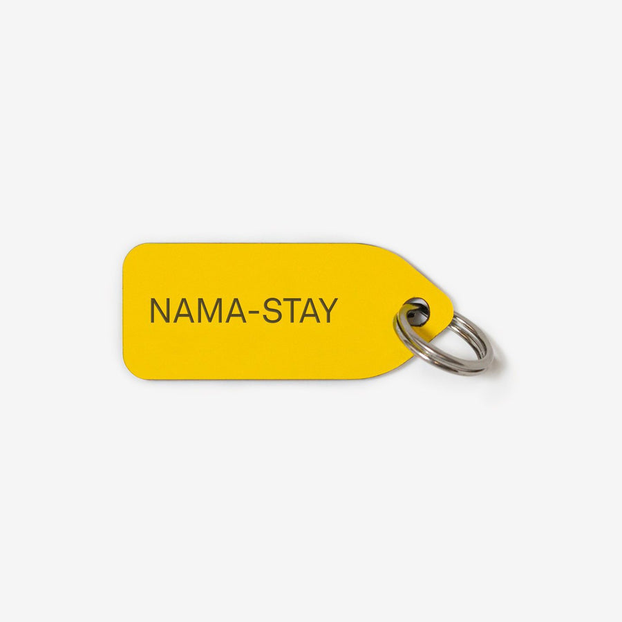 nama-stay dog tag in yellow