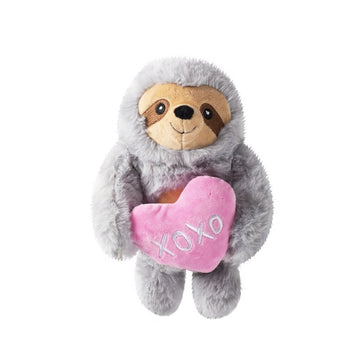 Hugs & Kisses sloth dog toy