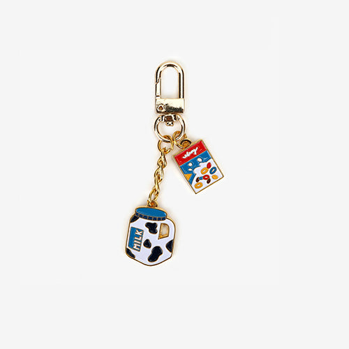 milk & cereal keyring