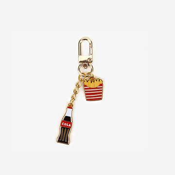 coke & fries keychain airpod