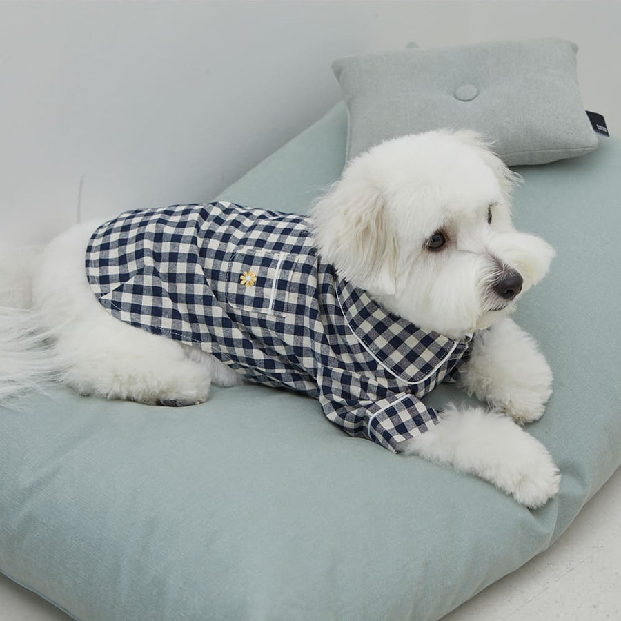 Dog Checker Cotton Pajamas