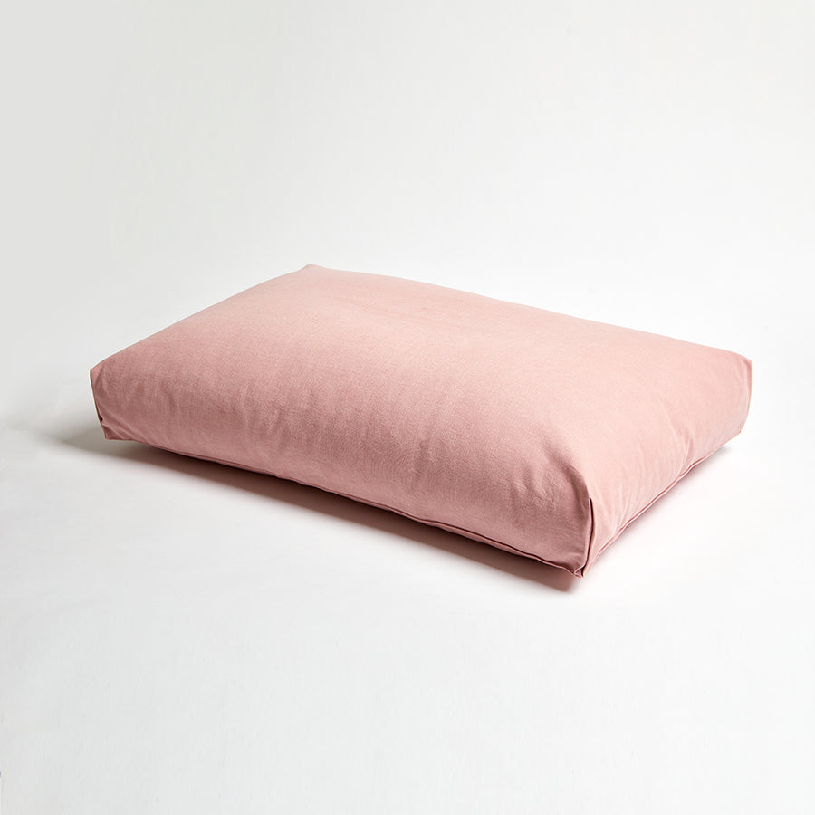 simple cushion dog bed in pink