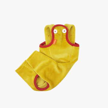 Velour Overalls / Indian Yellow