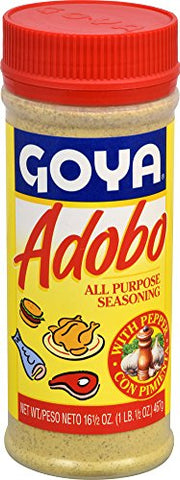 Goya Adobo All Purpose Seasoning With Pepper, 16.5 Ounce - www.inmatecarepackage.net