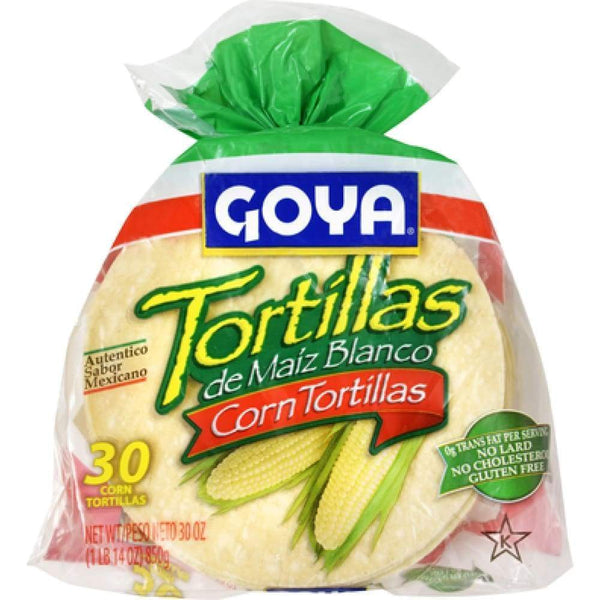 6 White Corn Tortilla 30 Ct. - www.inmatecarepackage.net