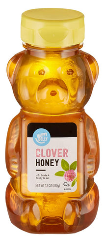 Happy Belly Clover Honey, 12 Ounce - www.inmatecarepackage.net