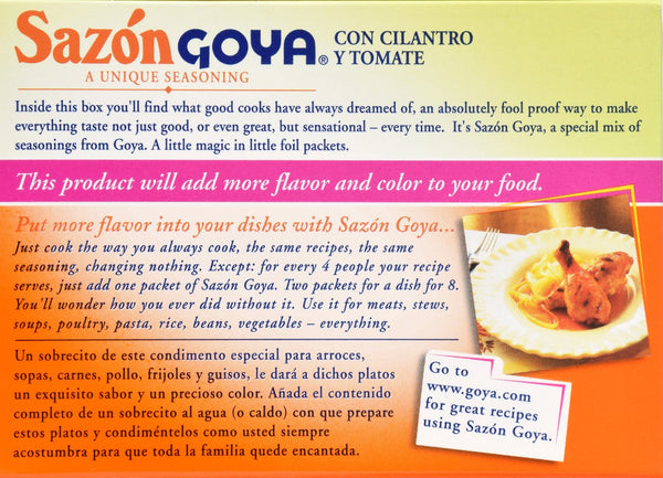 Goya Sazon Seasoning With Cilantro & Tomato, 1.41 Ounce - Inmate Care Packages