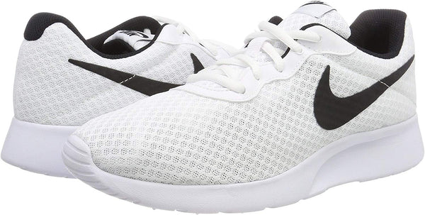Nike Men's Tanjun Sneakers, Breathable Textile Uppers and Comfortable Lightweight Cushioning White/Black - www.inmatecarepackage.net