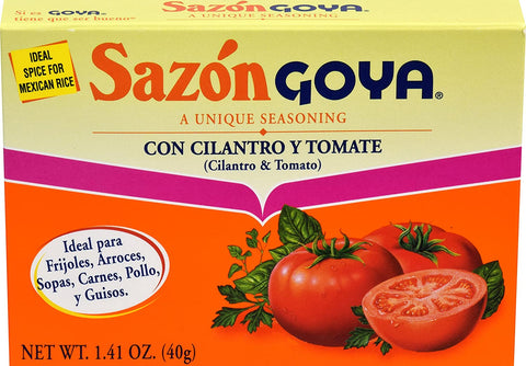 Goya Sazon Seasoning With Cilantro & Tomato, 1.41 Ounce - www.inmatecarepackage.net