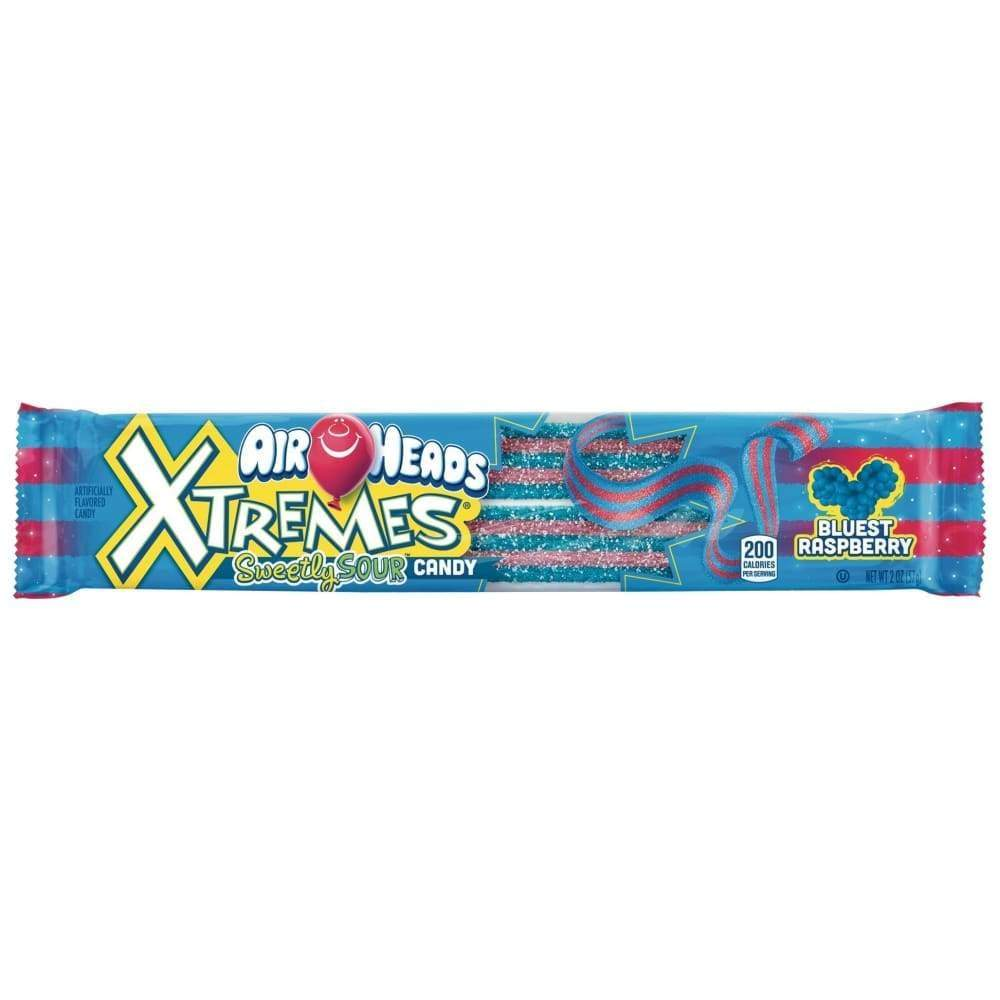 Airheads Xtremes Belts Blue Raspberry, 2 Oz. - www.inmatecarepackage.net