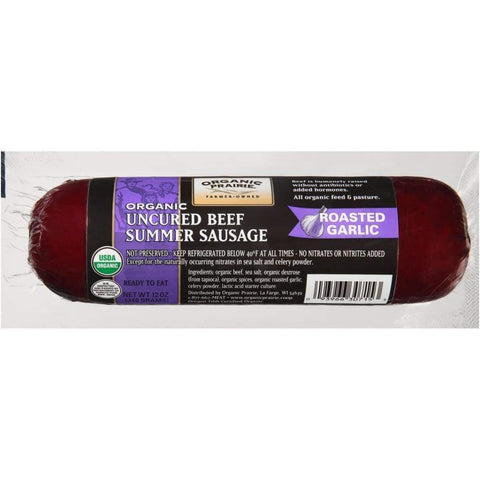 Beef Summer Sausage Garlic Organic, 12Oz - Inmate Care Packages