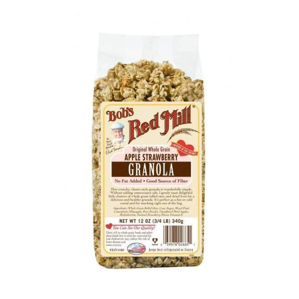 Bob's Red Mill Apple Strawberry Granola - www.inmatecarepackage.net