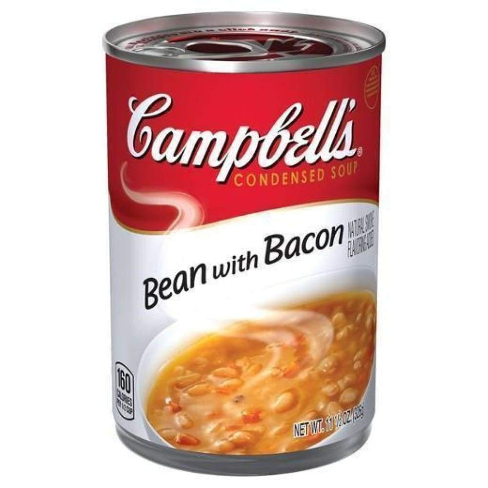 Campbell's Condensed Soup Bean & Bacon 11.5Oz - www.inmatecarepackage.net
