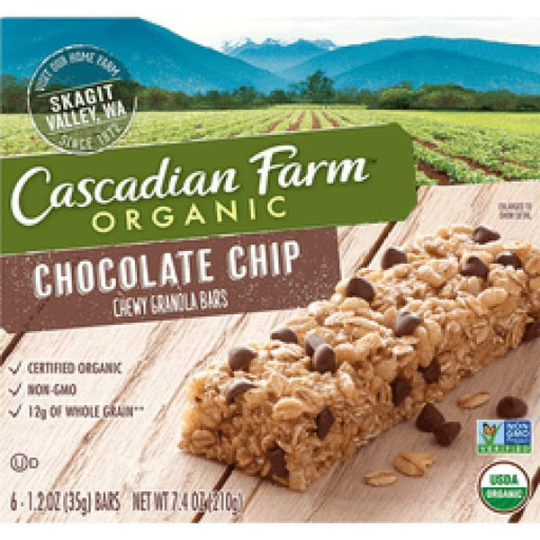 Cascadian Farm(R), Granola Bar, Chocolate Chip, Organic, 12 Ct - www.inmatecarepackage.net