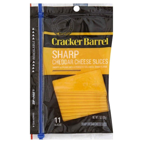 Cheese Sharp Cheddar Narrow Base Sliced 7Oz - www.inmatecarepackage.net