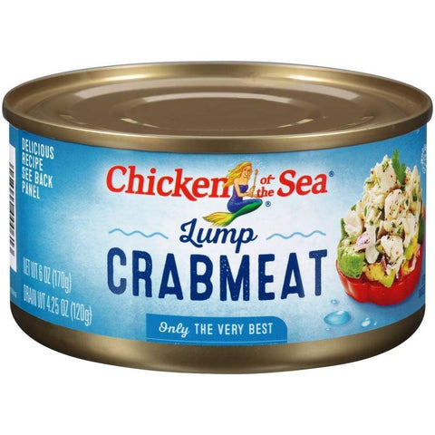 Chicken Of The Sea Lump Crab 6Oz - www.inmatecarepackage.net