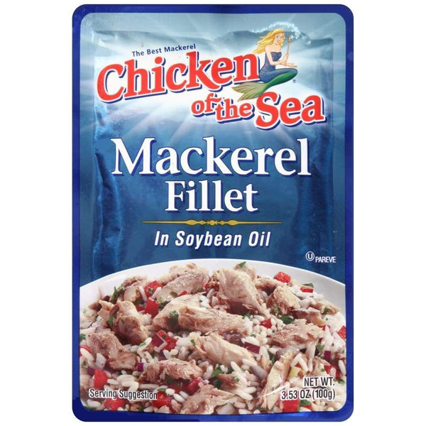 Chicken Of The Sea Mackerel In Soy Oil Pouch 3.53 Oz - Inmate Care Packages