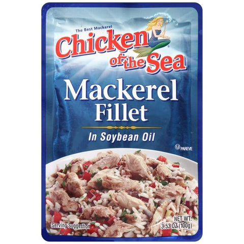 Chicken Of The Sea Mackerel In Soy Oil Pouch 3.53 Oz - www.inmatecarepackage.net