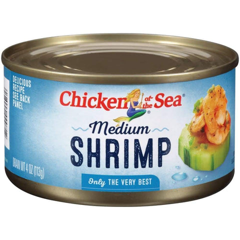 Chicken Of The Sea Medium Shrimp 4Oz - www.inmatecarepackage.net