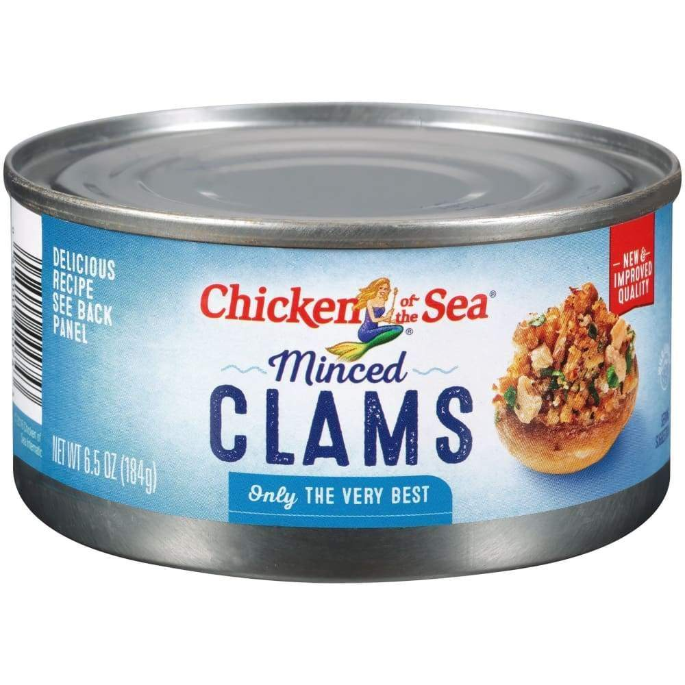 Chicken Of The Sea Minced Clams 6.5Oz - www.inmatecarepackage.net