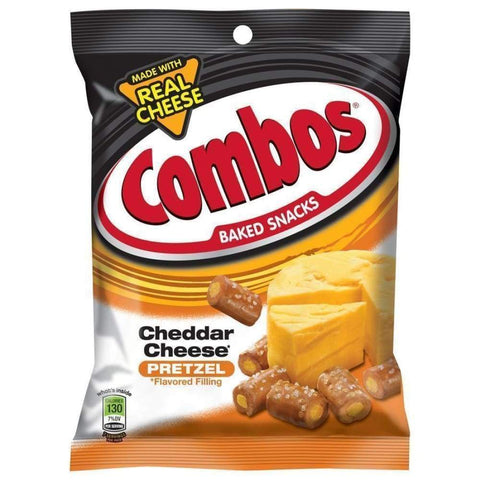 Combo Snack Cheddar Cheese Pretzel 6.3Oz - www.inmatecarepackage.net