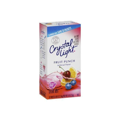 Crystal Light On The Go Powdered Soft Drink Fruit Punch - www.inmatecarepackage.net