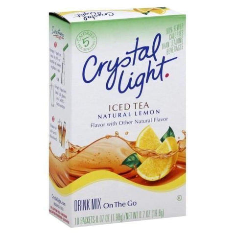 Crystal Light On The Go Powdered Soft Drink Iced Tea - www.inmatecarepackage.net