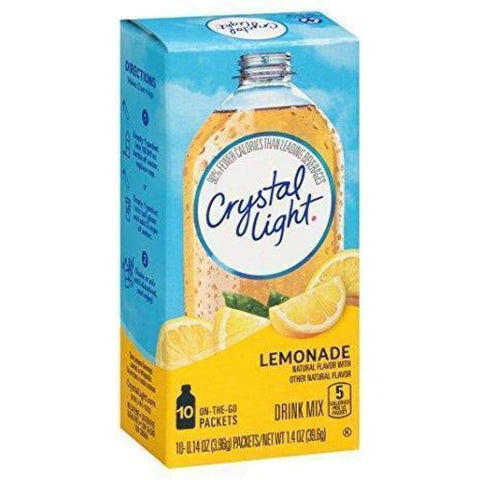 Crystal Light On The Go Powdered Soft Drink Lemonade - www.inmatecarepackage.net