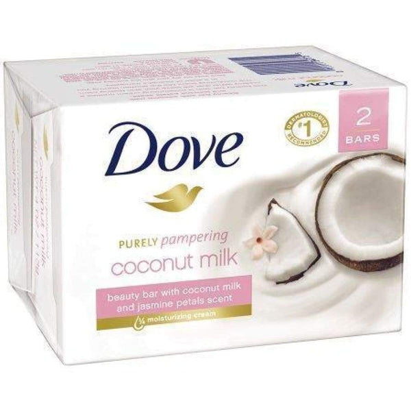 Dove Bar Soap Coconut Milk 2 Bars - www.inmatecarepackage.net