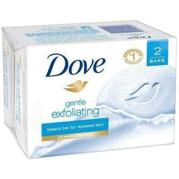 Dove Bar Soap Exfoliate 2 Bars - www.inmatecarepackage.net