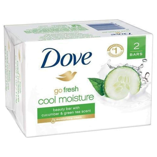 Dove Bar Soap Go Fresh Cool Moisture 2 Bars - www.inmatecarepackage.net